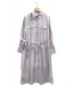 ()の古着「シアーロングシャツ」|ラベンダー