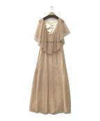 CELFORD(セルフォード)の古着「バックサシャンレースロングドレス」 ベージュ