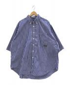 ()の古着「【別注】CHAVOボタンダウンシャツ」 ブルー×ホワイト