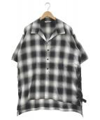 ()の古着「オープンカラーシャツ」 ブラック×グレー