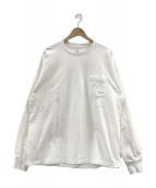 ()の古着「ロングスリーブTシャツ」 ホワイト×ピンク×オレンジ