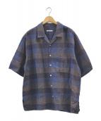 ()の古着「アロハシャツ」 ブラウン×ブルー