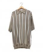 LF(エルエフ)の古着「ポロシャツ」 ベージュ×ホワイト
