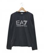 EMPORIO ARMANI EA7(エンポリオアルマーニ イーエーセブン)の古着「ロゴカットソー」|ブラック
