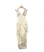 MAISON SPECIAL(メゾンスペシャル)の古着「ヴィーガンレザーサロペット」|アイボリー