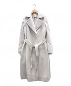 UNITED ARROWS(ユナイテッドアローズ)の古着「アンゴラウールベルベットコート」|ライトグレー