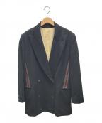 Jean Paul Gaultier FEMME(ジャンポールゴルチェ フェム)の古着「ダブルボタンラインジャケット」|ブラック×ブラウン