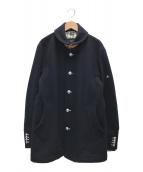 ()の古着「ショールカラーコート」|ブラック