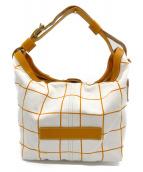 Felisi(フェリージ)の古着「セミショルダーバッグ」|ホワイト×オレンジ