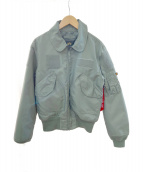 ALPHA INDUSTRIES(アルファ インダストリーズ)の古着「MA-1ジャケット」|オリーブ