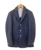 EDIFICE(エディフィス)の古着「100S メルトンショートチェスターコート」|ネイビー