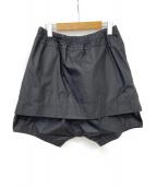 JULIUS(ユリウス)の古着「アタッチドスカートショーツ」|ブラック
