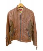 AVIREX(アビレックス)の古着「ライダースジャケット」 ブラウン