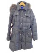 BURBERRY BLUE LABEL(バーバリーブルーレーベル)の古着「ファー付ダウンコート」|ブラック