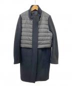 DOUBLE STANDARD(ダブルスタンダード)の古着「ウール切替コート」|ブラック