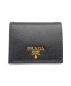 PRADA(プラダ)の古着「2つ折り財布」|ブラック×ピンク
