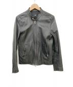 HARE(ハレ)の古着「シングルライダースジャケット」|ブラック