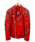 ALA(アラ)の古着「ライダースジャケット」|レッド