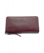 BAGGY PORT(バギーポート)の古着「ラウンドファスナー長財布」|ボルドー