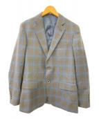 P.S.FA(パーフェクトスーツファクトリ)の古着「2Bシングルジャケット」 ブラウン×ネイビー