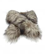 SAGA FOX(サガフォックス)の古着「ティペット」|ブラウン×ホワイト