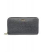 FURLA(フルラ)の古着「ラウンドファスナー財布」|ブラック