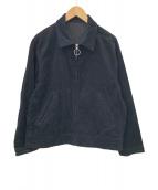 LIDnM(リドム)の古着「リングジップコーデュロイアウター」 ブラック