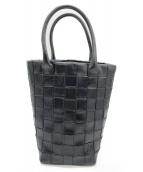 HIROFU(ヒロフ)の古着「イントレチャートレザートートバッグ」|ブラック