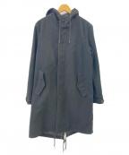 nano&co(ナノアンドコー)の古着「メルトンモッズコート」 ブラック