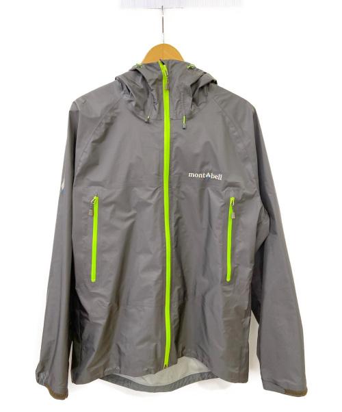 mont-bell(モンベル)mont-bell (モンベル) ストームクルーザージャケット グレー×イエロー サイズ:Lの古着・服飾アイテム