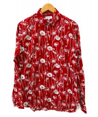 LANVIN en Bleu(ランバンオンブル)の古着「長袖シャツ」|レッド