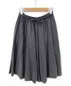 nest Robe(ネストローブ)の古着「リネンギャザースカート」 ブラック