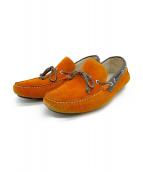 STEFANO GAMBA(ステファノ ガンバ)の古着「ドライビングシューズ」|オレンジ×ブラウン
