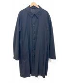 ARMANI COLLEZIONI(アルマーニコレツォーニ)の古着「ステンカラーコート」|ブラック