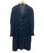 ARMANI COLLEZIONI(アルマーニコレツォーニ)の古着「アンゴラ混ウールコート」|ブラック