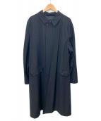 GIORGIO ARMANI(ジョルジオアルマーニ)の古着「ステンカラーコート」|ブラック