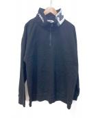 X-LARGE(エクストララージ)の古着「ハーフジップスウェット」|ブラック
