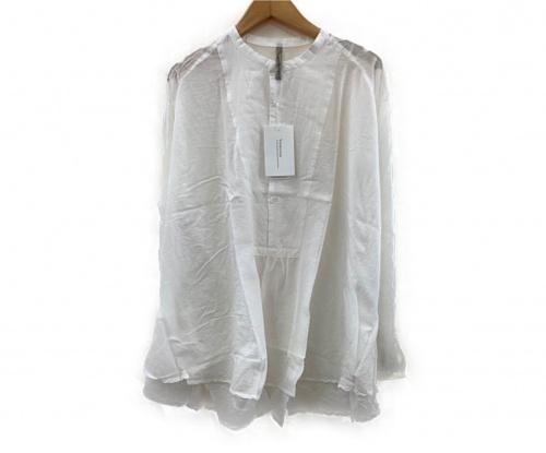 Veritecoeur(ヴェリテクール)Veritecoeur (ヴェリテクール) バンドカラーシャツ ホワイト サイズ:FREEサイズの古着・服飾アイテム