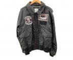 HOUSTON(ヒューストン)の古着「フライトジャケット」 ブラック