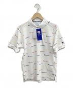 Champion()の古着「ポロシャツ」 ホワイト