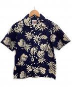 DUKE KAHANAMOKU(デューク カハナモク)の古着「アロハシャツ」|ネイビー