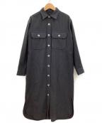 NIGEL CABOURN(ナイジェルケーボン)の古着「シャツワンピース」 ブラック