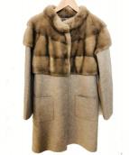 MANZONI24(マンツオーニ)の古着「ミンク切替コート」|グレー