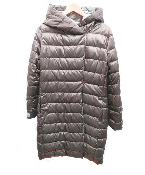 MaxMara(マックスマーラ)MaxMara (マックスマーラ) リバーシブルダウンコート ブラウン サイズ:36 冬物の古着・服飾アイテム