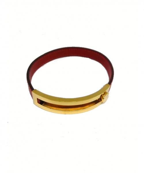HERMES(エルメス)HERMES (エルメス) ブレスレット ブラウン×ゴールド プスプスの古着・服飾アイテム
