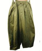 HARVESTY(ハーベスティー)の古着「サーカスパンツ」|オリーブ
