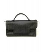 ()の古着「波型型押し2wayバッグ」 ブラック