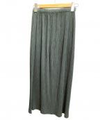 ISSEY MIYAKE FETE(イッセイミヤケフェット)の古着「プリーツロングスカート」 グレー