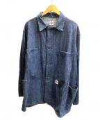 POST OALLS(ポストオーバーオールズ)の古着「デニムワークシャツ」|インディゴ
