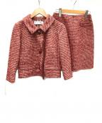 Christian Dior(クリスチャン ディオール)の古着「シルク混ウールセットアップ」|レッド